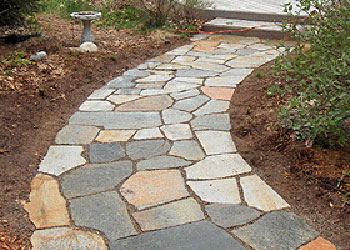 Flagstones in Landscaping