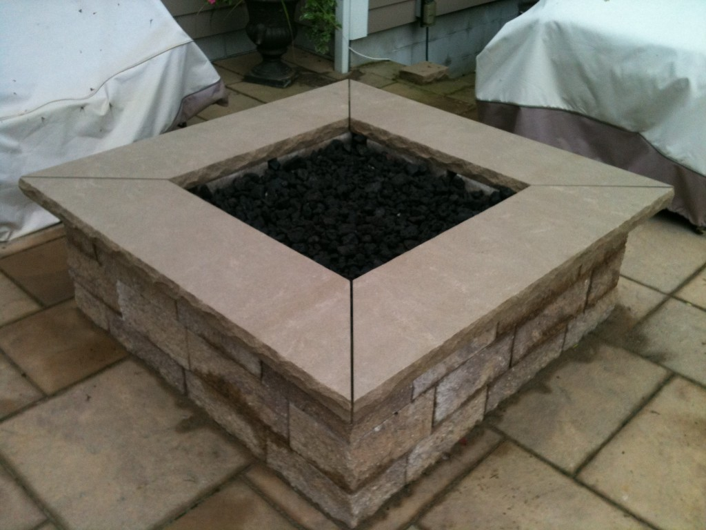 fancy brick outdoor fire pit